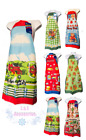 Amber Mills Collection Vtg Women Printed Bib Aprons Wt 2 Pockets Home/restaurant