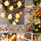 Snowman Led String Fairy Lights Santa Snowflake Party Home Christmas Decoration