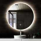 Round back lit LED mirror bathroom touch button & de-fogger 60cm and 80cm
