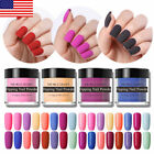 10ml NICOLE DIARY Pink Black Dipping Nail Powder Glitter French Nail Dip System
