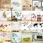 Flower Tree Quotes Wall Sticker Art Living Room Removable Decals Home De✔uk