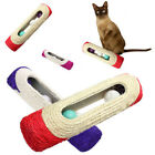 FJ- QA_ PET CAT KITTEN TOY ROLLING SISAL SCRATCHING POST 3 TRAPPED BALL TRAIN TO