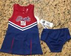 NFL New York Giants Football 2 Piece Cheerleader Outfit Girls Jersey NFL NWT $12.95 USD on eBay