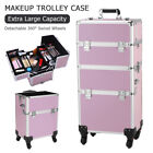 3-In-1 Aluminum Trolley Box Makeup Case Jewelry Cosmetic Nail Beauty Storage Bag
