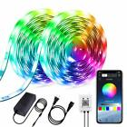 4-FQ Dreamcolor Led Strip Lights Bluetooth 10m 32.8ft Multicolor Chasing Effe...