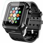 Apple Watch Series 3 4 5 Case 38 42 44 mm Waterproof Premium Soft Silicone Band image