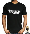 Triumph Logo Parody T-shirt Funny Trouble Motorcycle Biker Racing Gift Top S-3XL £8.99 GBP on eBay