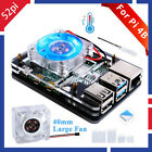 52Pi Raspberry Pi 4 Case 5-Layer Acrylic Case Compatiable with ICE Tower Fan