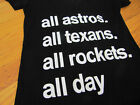 "Houston ASTROS MLB T Shirt ""All Astros All Texans All Rockers"" Black on Ebay"