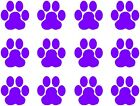 Set Of 12 Paw Print Stickers For Cars, Walls Laptops Phones Vinyl Decals Cat Dog