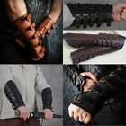 Steampunk Viking Leather Bracers Medieval Retro Gloves Vambraces Cosplay Costume