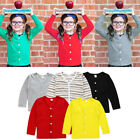 Toddler Kids Baby Girl multicolor Knitted Sweater Cardigan Coat Top Outwear