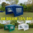 Gazebo Waterproof Garden Outdoor Marquee Wedding Party PE Tent 3x3m With 4 Sides