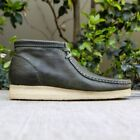 Clarks Originals Wallabee Boot Men's Leaf Green Leather 26115394