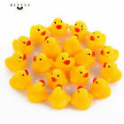 1 200Pcs Cute Mini Yellow Rubber Ducks Bathing Floating Ducky Baby Shower Toys