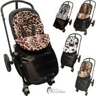 Animal Print Padded Pushchair Footmuff / Cosy Toes Compatible with TFK