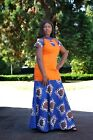 African Women ladies kente print Ankara Elegant spring/summer dress gift for her