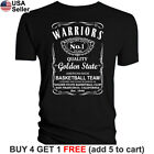 Golden State Warriors T-Shirt JD Whiskey Graphic GS SF Men Cotton Whisky on eBay