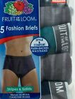 Fruit of the loom Men's plush backed waistband fashion briefs 5 Pack
