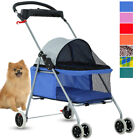 4 Wheels Stroller Cat Dog Pet Cage Travel Folding Waterproof Carrier 8 colors S8