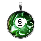 Number Six #6 Pool Ball Key Ring Necklace Cufflinks Tie Clip Round Ring Earrings $16.95 USD on eBay