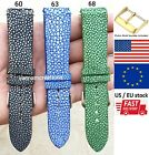Blue Genuine Stingray Skin Leather Watch Strap Band Handmade 18mm 20mm 22mm