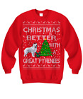 Great Pyrenees Christmas Ugly Sweater, Great Pyrenees Christmas Sweater Gifts