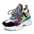 Women New 2020 Styles High Platform Chunky Multi Colored Casual Sports Sneakers