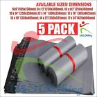 5 x New Strong Grey Mailing Bags Poly Postal Postage Post Mail Self Seal Parcels
