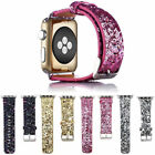 For Apple Watch Band iWatch Leather Glitter Wrist Strap Bling Series 1 2 3 4 5 image