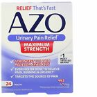 Azo  Urinary Pain Relief  Maximum Strength  24 Tablets - 2 or 3pk $9.98 USD on eBay