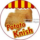 Potato Knish DECAL Choose Your Size Concession Food Truck Circle Sticker