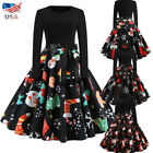 Women 1950s 60s Vintage Rockabilly Swing Retro Christmas Cocktail Party Dresses $13.99 USD on eBay
