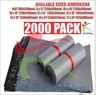 New 2000 Pack Bags Strong Grey Heavy Duty Cheap Self Seal  Recycled Postal Bags