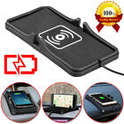 Qi Wireless Fast Charger Car Dashboard Phone Holder Mount Non-Slip Pad US Seller