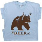 Bear Deer Beer T Shirt Funny Beer Shirts Saying Alcohol Bar Pub Redneck Cool Tee