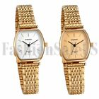 Womens Analog Quartz Wrist Watch Stainless Steel Band Squarse Dial PC21 Movement image