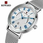 Mens Watches Fashion Silver Full Steel Business Watch Quartz Movement Wristwatch image