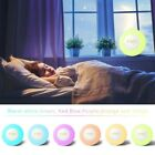 RGB LED Digital Alarm Clock 7Colors Light FM Radio Touch Control Wake Up Clock