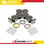Pistons w/ Rings fit 04-07 Chrysler 300 Pacifica Dodge Charger Magnum 3.5L