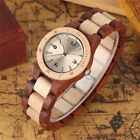 Elegant Small Diall Wrist Watch Red/Black Full Wooden Women's Bracelet Watches image