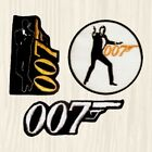 James Bond Patches 007 Logo Roger Moore Sean Connery Licence to Kill Embroidered $8.99 USD on eBay