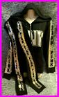 Victoria's Secret Pink Bling Perfect FZ Hoodie  Leggings Black Silver Gold L