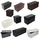 PVC Leather Storage Footstool Sofa Ottoman Bench Folding Footrest Box Seat New $16.5 USD on eBay