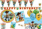'Toy Story 4 Party Decorations Tableware Plate Happy Birthday Balloons