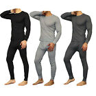 New Mens 2PC Soft 100 Cotton Thermal Underwear Long Johns Set Top Bottom M 2XL