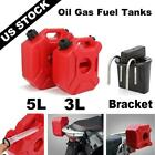 3L/5L Gas Cans Fuel Tank Petrol Tanks Gasoline Oil Container Bracket Holder Red