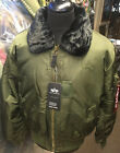 Alpha Industries Dark Green Core Line B-15 Flight Bomber Jacket