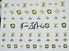 FixedPriceluxury lv self adhesive logo nail art stickers/decal diy 0228