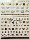 Luxury LV Self Adhesive Logo Nail art Stickers/Decal DIY 0228
